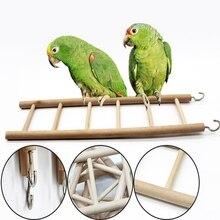 Escalera de madera pájaro periquito hámster canario ratón jerbo ratas jaula escaleras juguetes escalada 3/4/5/6/7/8 escalera Hamsters loro Juguetes