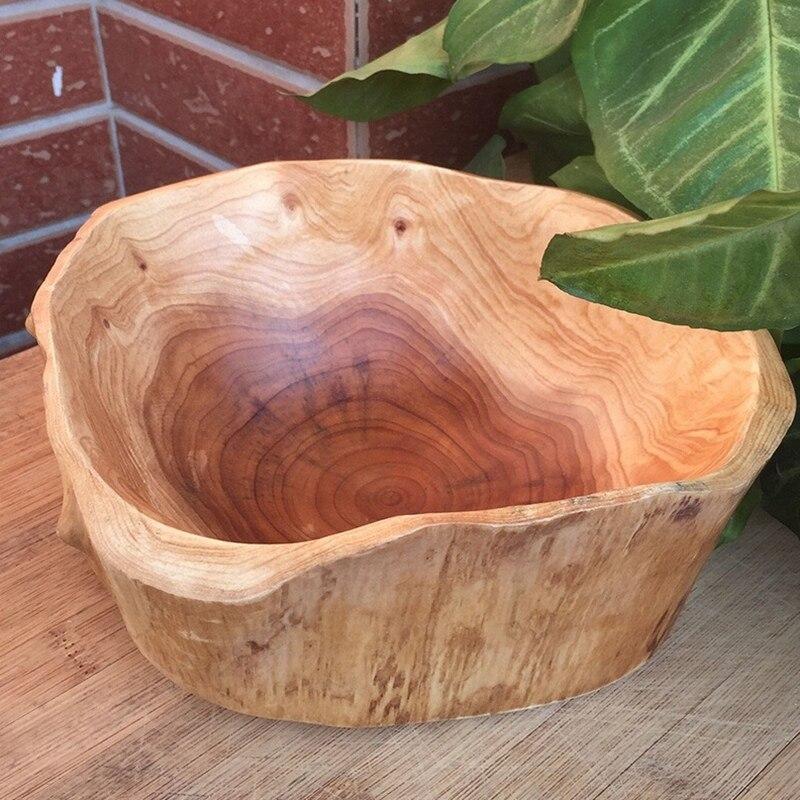 Бытовая чаша для фруктов, деревянная тарелка для конфет, тарелка для фруктов, тарелка для фруктов с резьбой по дереву, 20-24 см-5