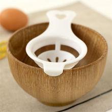 Séparateur dœufs mutifonctionnel   Oeuf en plastique pratique en acier, jaune blanc séparateur séparé support de tamis, outil de cuisson pour gâteaux