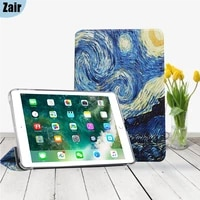 for apple ipad 2 3 4 5 6 7 9 7 10 2 inch printing tablets case sleep awake flip painted tablet cover for 5th 6th 7th generation