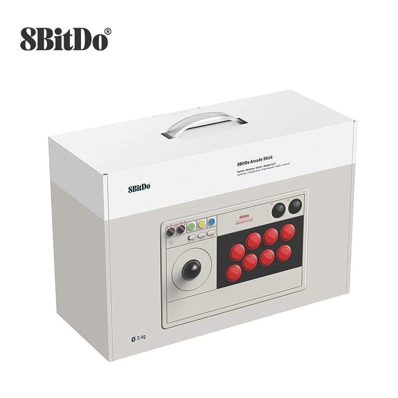 Videogame 8bitdo, suporte com fio, bluetooth sem fio e 2.4g com receptor para nintendo switch windows