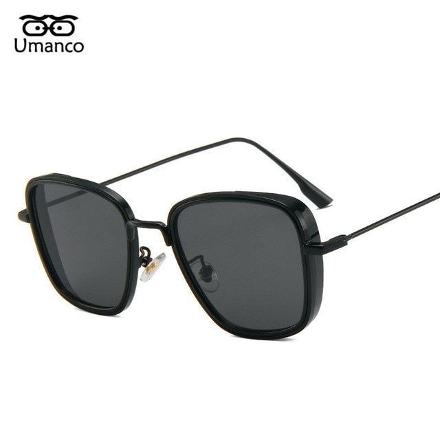Umanco 2021 Steampunk Cool Kabir Square Sunglasses For Women Men Alloy Frame AC Lens Designer Brand Beach Travel Shade Gifts 2