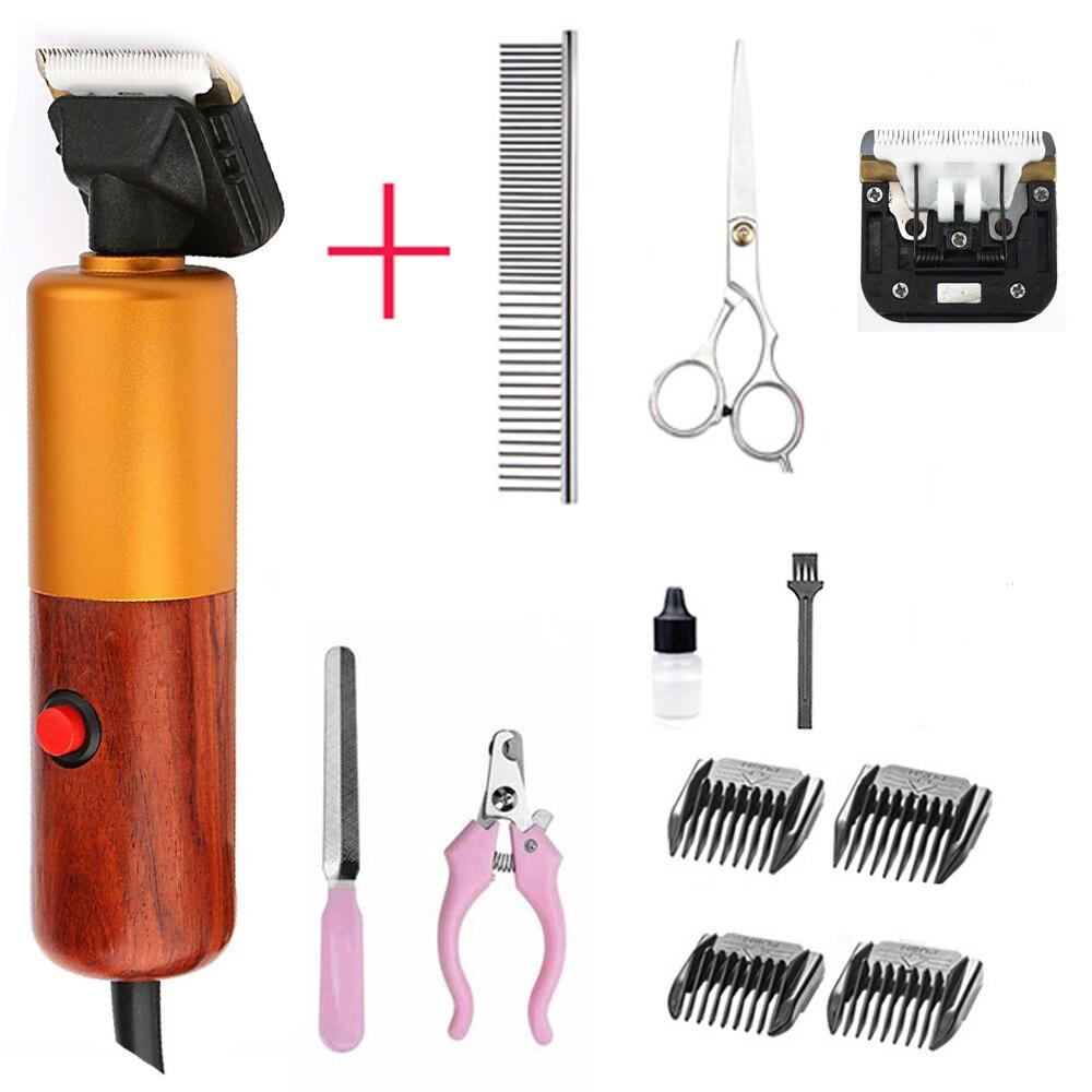 Recortadora de pelo para perros profesional de 200 W, Kit de aseo de alta potencia para mascotas, animales, gatos, cortadora de pelo de alta calidad para mascotas, máquina de afeitar