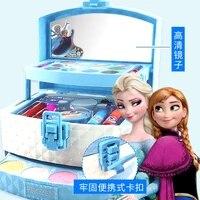 disney frozen fan makeup case princess makeup eyeshadow box set girl toy girl birthday gift d22726b