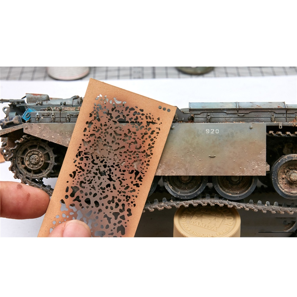 DIY, papel pulverizador, plantillas para aerógrafo, herramientas para 1/35 1/48, Kit de modificación del modelo a escala 1/72, accesorios