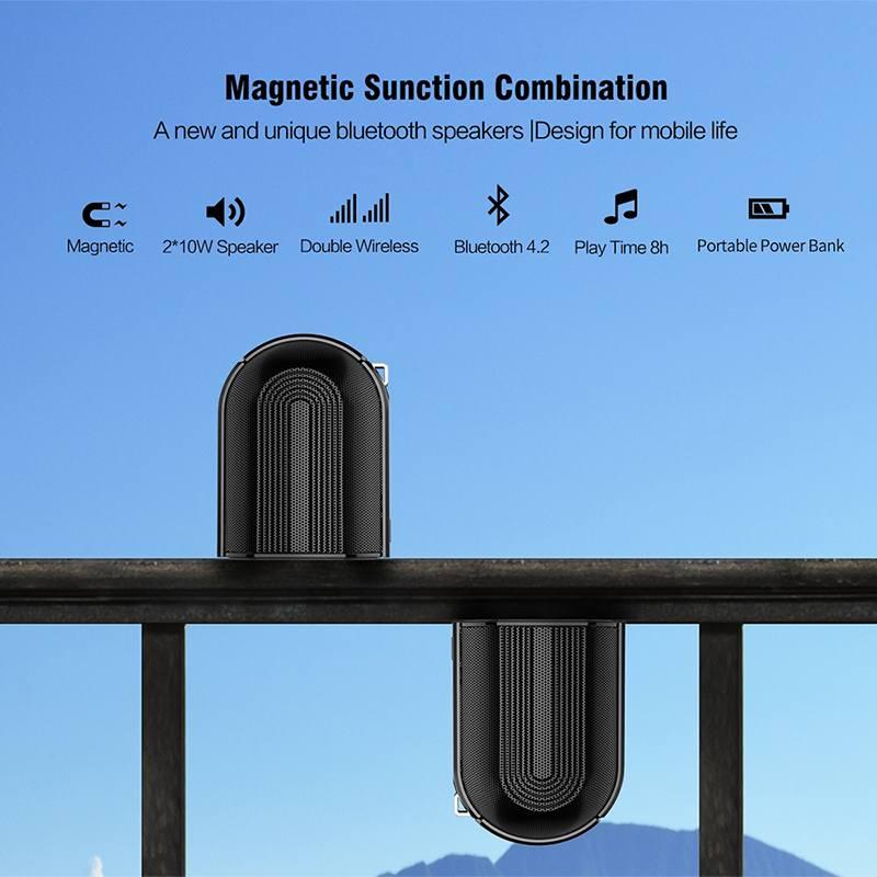 Altavoz Super Life de alta potencia magnético Dual altavoz inalámbrico para el hogar escritorio estéreo envolvente HiFi BJ-YPAY