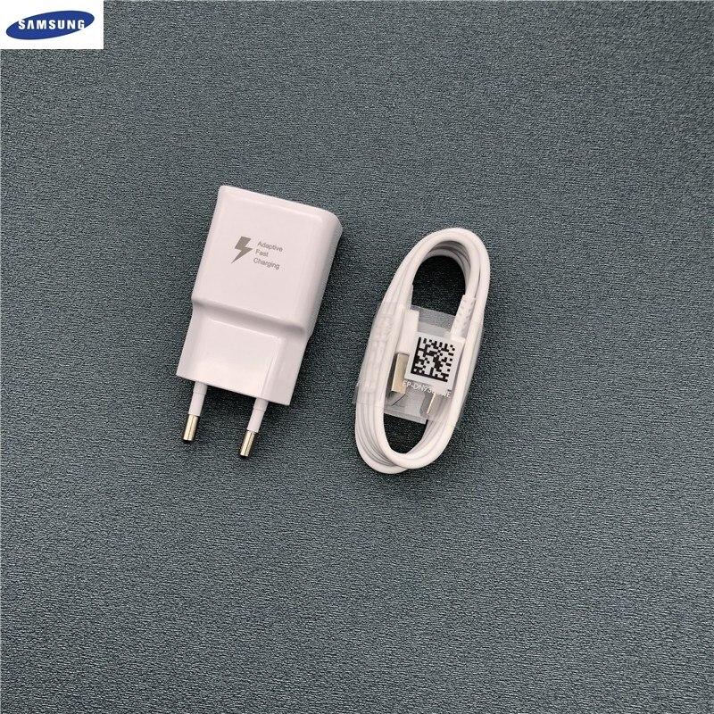 Samsung Адаптивное S10 быстрое зарядное устройство 9V1. 67A быстрый адаптер USB TYPE C кабель для Galaxy S8 S9 s10 Plus Note 8 9 A3 A5 A7 2017