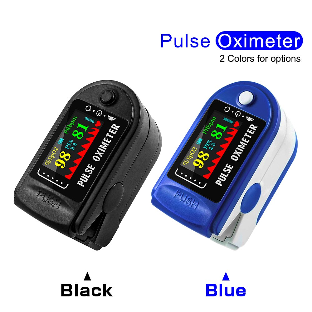 Household Digital Finger Pulse Oximeter Blood Oxygen Saturation Meter heart rate Monitor Health Care tonometer