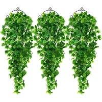 Plantes artificielles suspendues feuilles de lierre  2 pieces  plantes pour mur de mariage  decoration interieure et exterieure  Branches de plantes artificielles