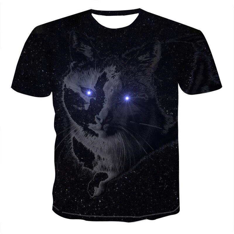 Новинка 2020, Мужская крутая футболка Harajuku с 3D принтом животных, мужские/женские летние топы с коротким рукавом, модные футболки с животными