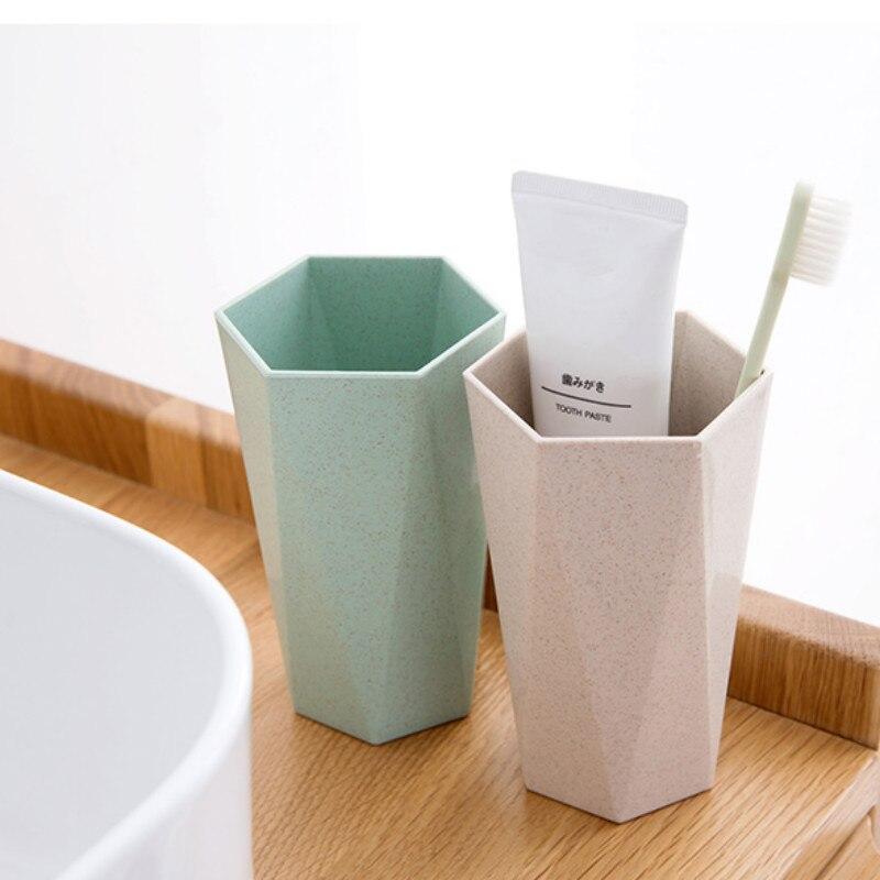 1 Uds. Taza nórdica de 400ml para enjuague bucal, taza de plástico respetuosa con el medio ambiente para agua, soporte para cepillo de dientes, juego de taza de lavado para Baño
