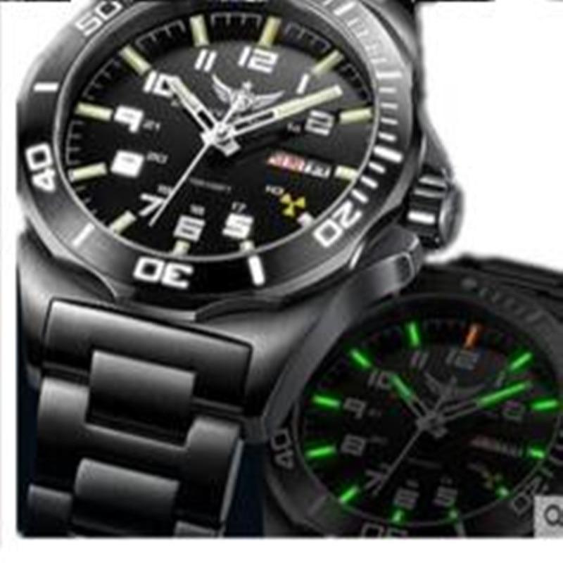 Yelang-ساعة رجالية أوتوماتيكية من اليابان ، تريتيوم T100 ، حركة عالية ، 24 جوهرة ، ميكانيكية ، التاريخ ، الياقوت الأزرق ، مقاومة للماء ، WR100M