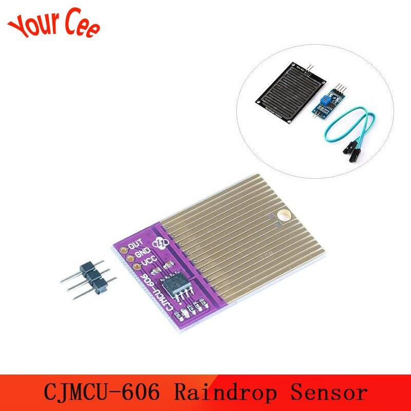 Módulo 3.3-5 v CJMCU-606 do sensor da umidade do módulo da umidade do tempo da chuva da detecção das gotas de chuva do sensor para arduino