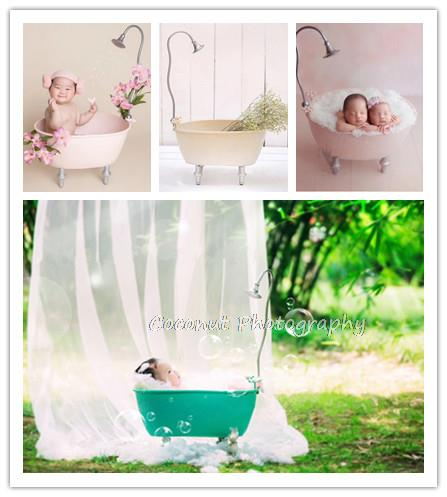 Coconut Newborn photography props bathtub 100 days full moon baby iron creative props baby photography props