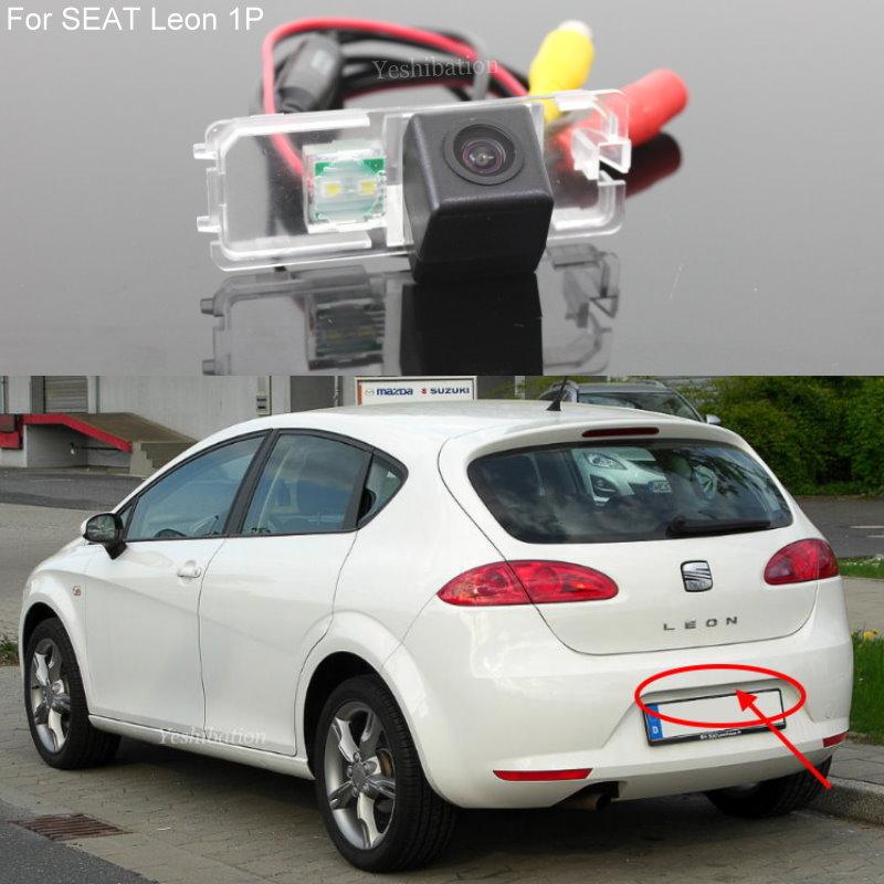 كاميرا خلفية للسيارة عالية الجودة بجودة عالية من طراز Leon 1P MK2 5F MK3 2006 ~ 2015 عالية الدقة للرؤية الليلية كاميرا خلفية عكسية
