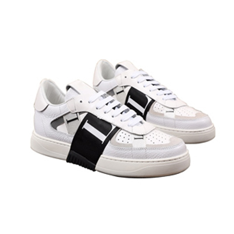 Кожаная спортивная обувь для отдыха Fourseasons маленькие белые мужские модные Молодежные туфли на толстой подошве