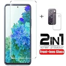 2 en 1 verre trempé pour Samsung Galaxy S20 FE ventilateur édition S20FE 5G 2020 SM-G781B 6.5 protecteurs décran pour Galaxy S20FE Film