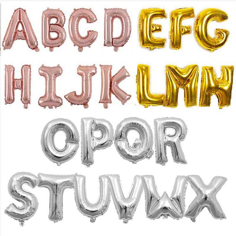 Globo de letras de oro rosa de 40, 32 y 16 pulgadas,...