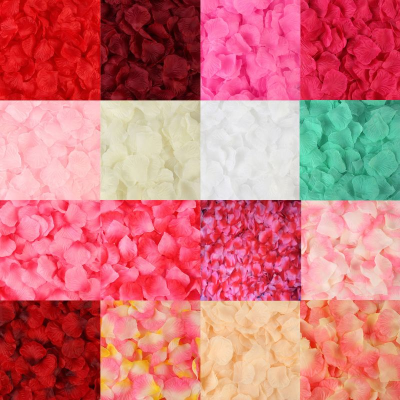2000 Pcs Artificial Rose Petals Wedding Petalas Colorful Silk Flower Accessories D08F