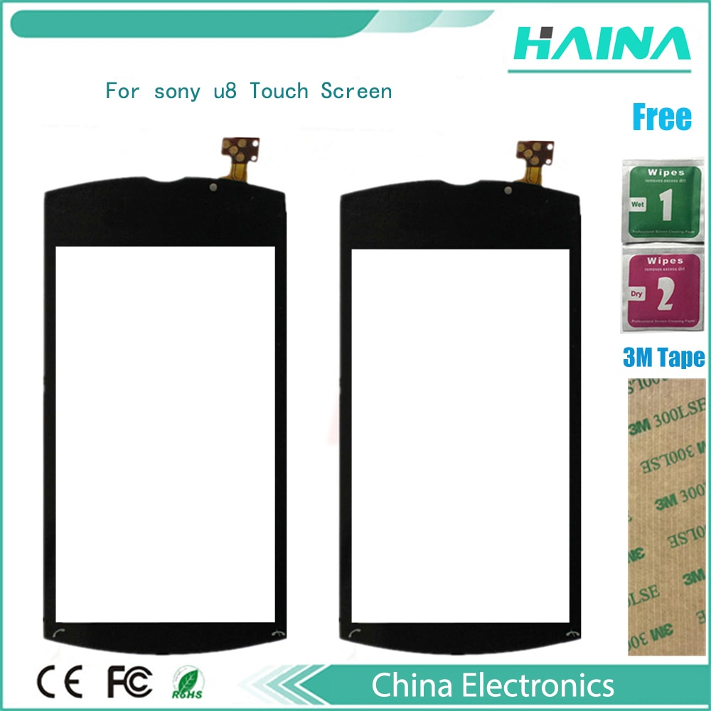 Mobile Phone Touchscreen Sensor For sony u8 Touch Screen Digitizer Front Glass Touch Panel Replaceme