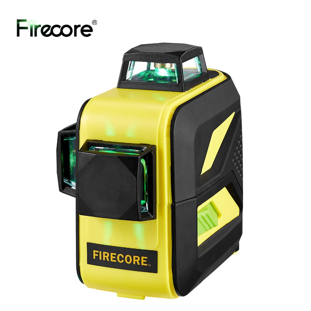 FIRECORE F93T-XG 12Lines Лазерный Уровень 3D 360 Green Laser Level Auto Self-Leveling Cross Lines With Purple Coating