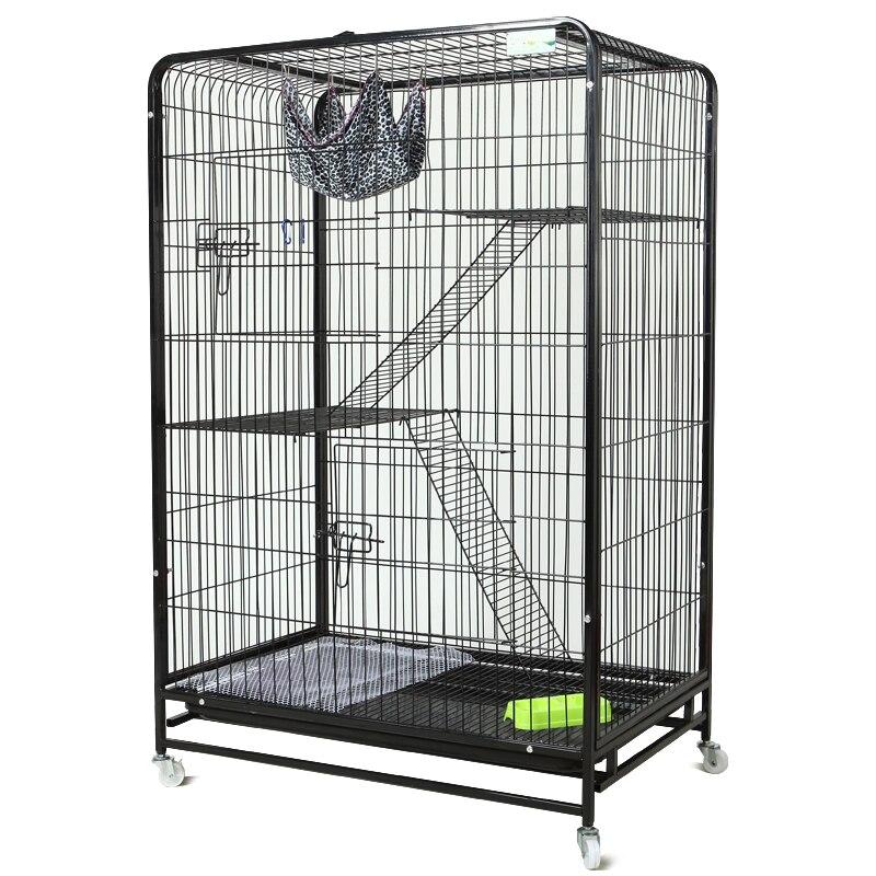 Jaula para Villa de gatos, jaula plegable de 3 capas para mascotas de doble reina, envío de conejo