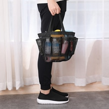 High Mesh Shower Caddy Portable for College Dorm Large Bathroom Tote Bag Durable with 8 Pockets LG66