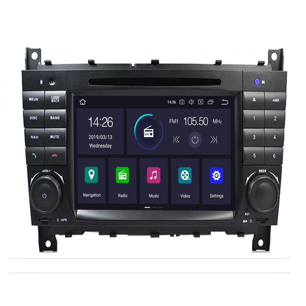 DSP IPS 8 Core 4G 2 Din Android10 coche radio DVD GPS multimedia para Benz W209 W203 C180 C200 C220 C230 C240 C250 C270 W463 OBD2