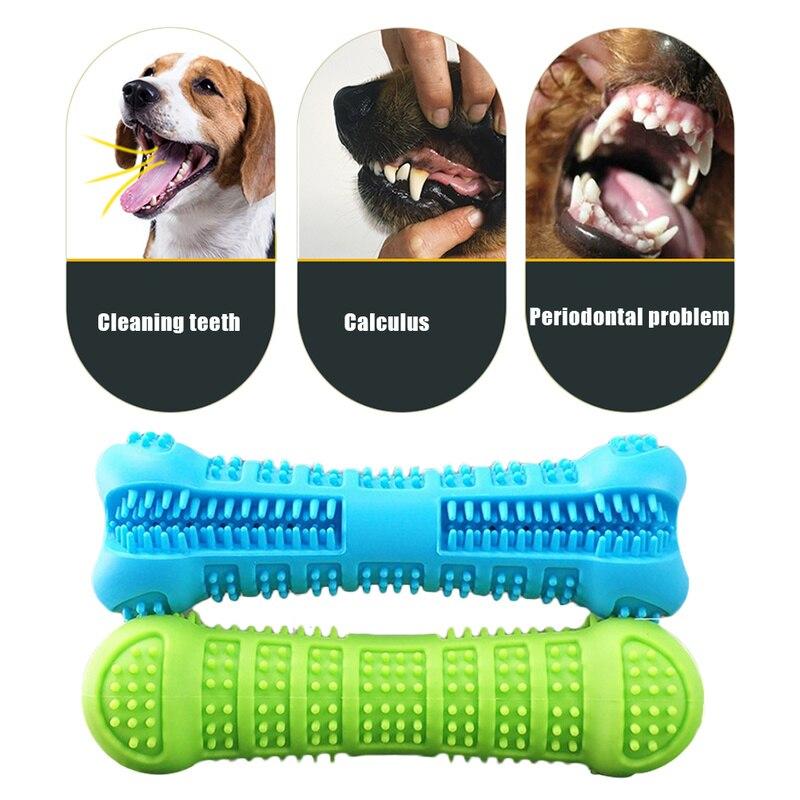 De silicona cepillo Dental para perro de juguete para masticar juguetes de peluche dientes purificación hueso palo perfecto perro de limpieza Dental, productos para mascotas