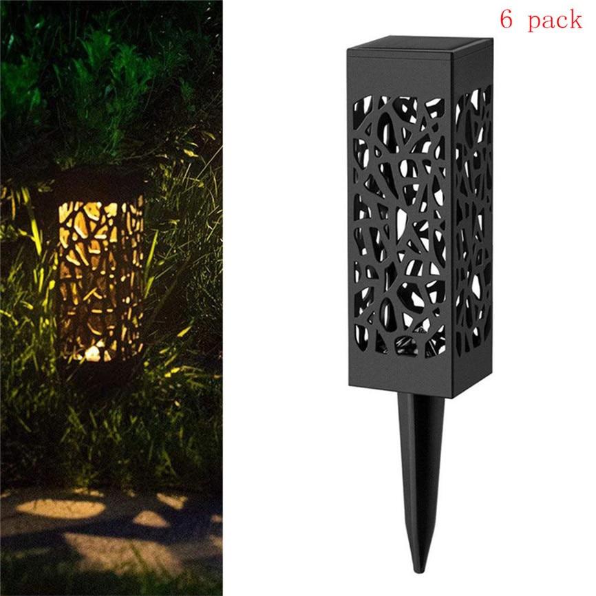 6Pcs Solar Powered Ground Light LED Lamp Solar Power Buried Light Under Ground Lamp Outdoor Path Way Garden Decking Lawn Lamp