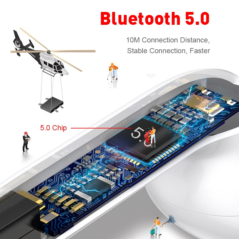Original i12 tws Stereo Wireless 5.0 Bluetooth Earphone Earbuds Headset With Charging Box For iPhone Android Xiaomi smartphones enlarge