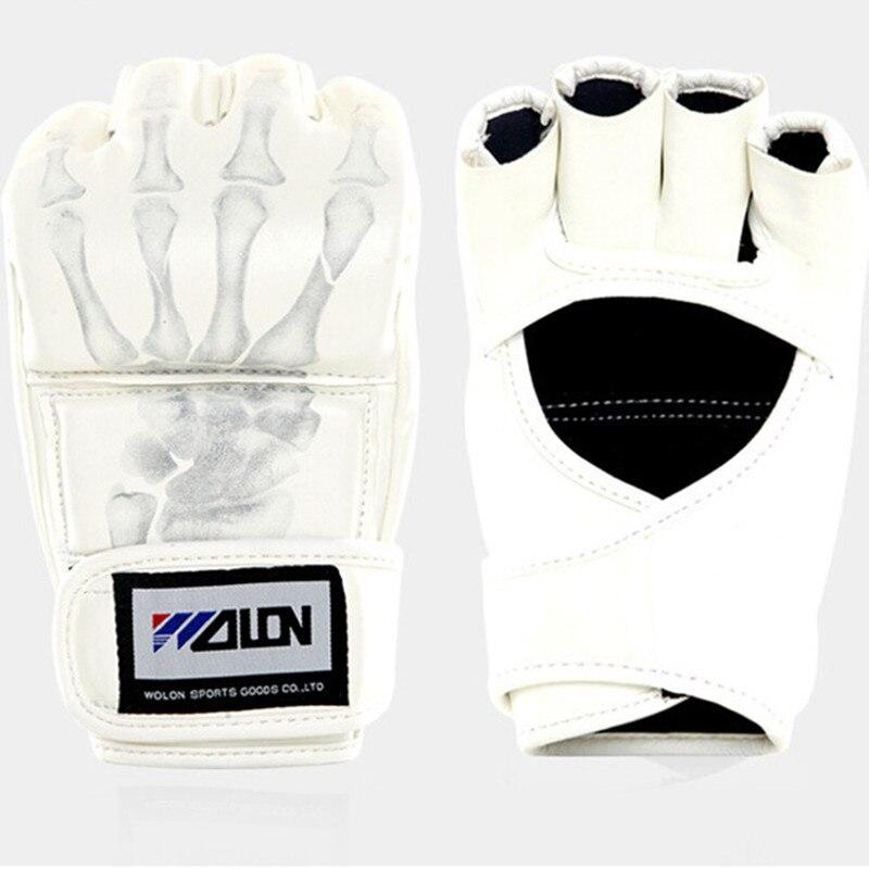 Утолщенные Боксерские перчатки для ММА, Санда, перчатки для занятий фитнесом на полпальца, сверхлегкие перчатки из искусственной кожи, бокс...