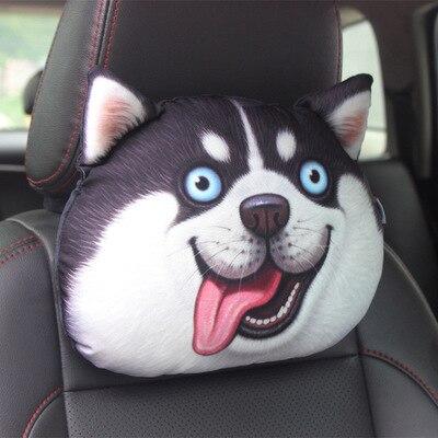 Almohada para cintura con núcleo + cojines de carbón activado, cojín de descanso del cuello y cabeza de perro divertido