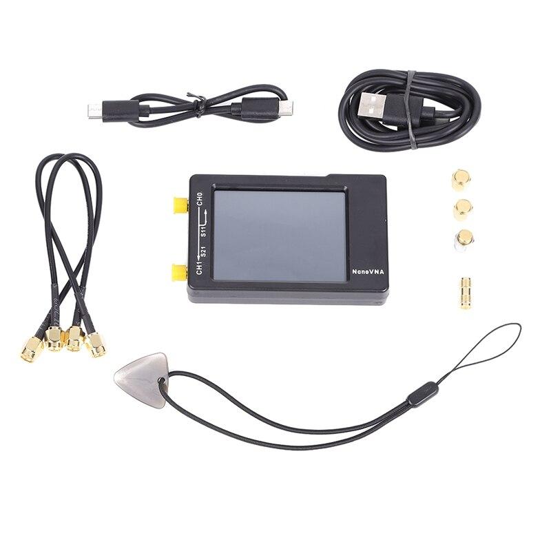 Analy uv da antena do analisador de rede do vetor da frequência ultraelevada 1.5 mah da antena do analisador de rede do hf do lcd de nanovna-h 50 khz-2.8 ghz vna Polegada 650