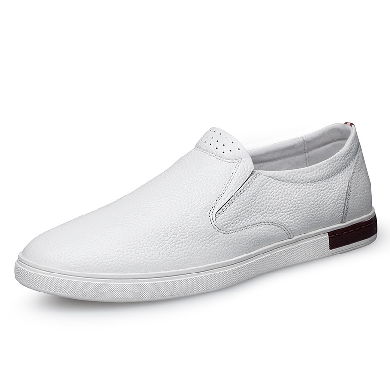Zapatos de barco de cuero genuino para hombres, mocasines de lujo con cordones y diseño de marca cosidos a mano para hombres, mocasines casuales para conducir, zapatos de negocios para hombres