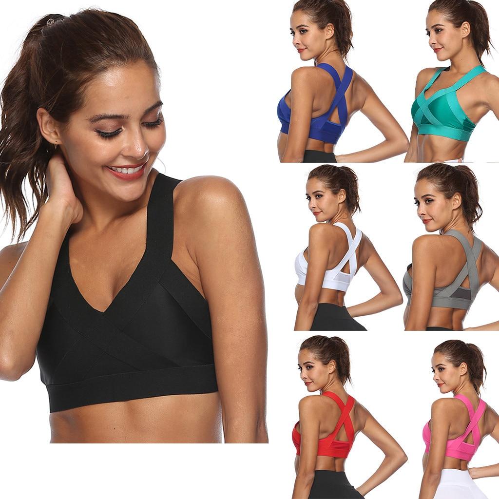 Sujetador deportivo De Yoga para Mujer, ropa interior Sexy para correr, gimnasio, sin aros, transpirable, para dormir, a prueba De golpes, Conjuntos De lencería deportiva