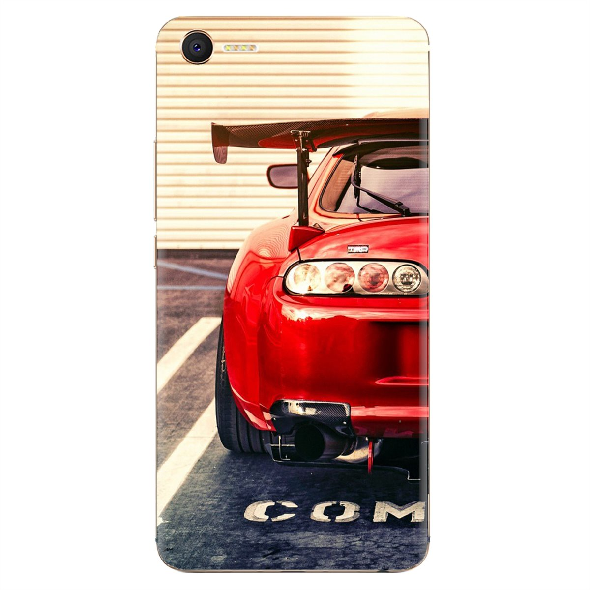 Suave de la cubierta del TPU del impresionante Super coches coche rojo sintonizado supra para Samsung Galaxy A10 A30 A40 A50 A60 A70 S6 activo Nota 10 Plus M30