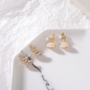 50pc 11*18mm Gold color Alloy Material Pearl/Crystal Ballet Girl Charm For DIY Necklace/Earring Handmade Jewelry Making
