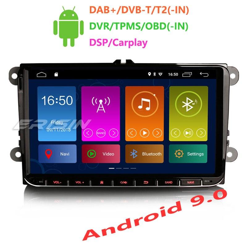 "Erisin ES3001V 9 ""coche reproductor Multimedia Auto Radio Android 9,0 DAB + DVR GPS DSP Carplay para Passat golf 5 Tiguan T5 Polo"