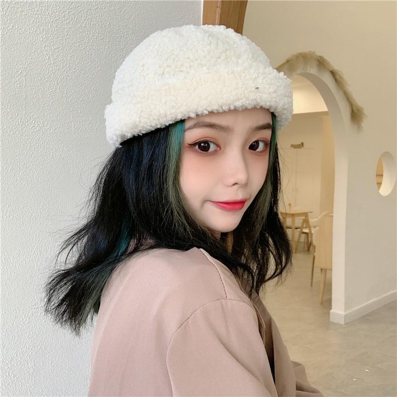 Plush Skullcap Men's Autumn and Winter All-Matching Korean Style Fashion Hat Warm Yupi Chinese Landl