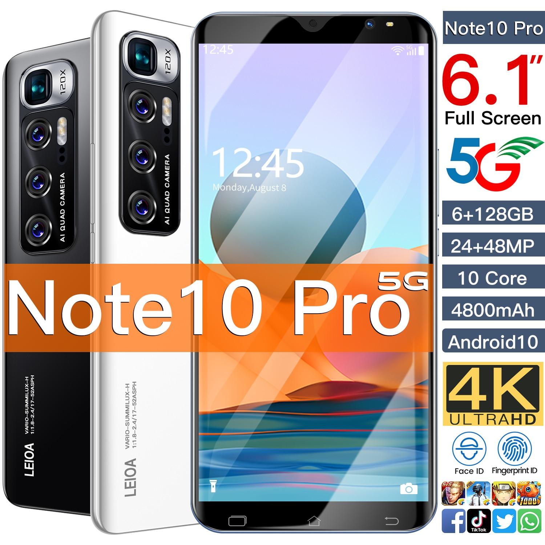Radml Note10 Pro Smartphone Android Celular 6GB 128GB Smart Phones Unlocked 5G 4800mAh 6.2