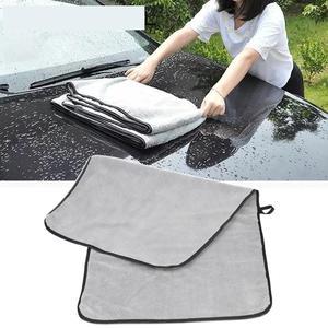 Image 1 - Полотенце из микрофибры, тряпочка для мытья автомобиля, уход за дверью и окном, плотная, сильное впитывание воды, аксессуары для автомобиля, дома и автомобиля