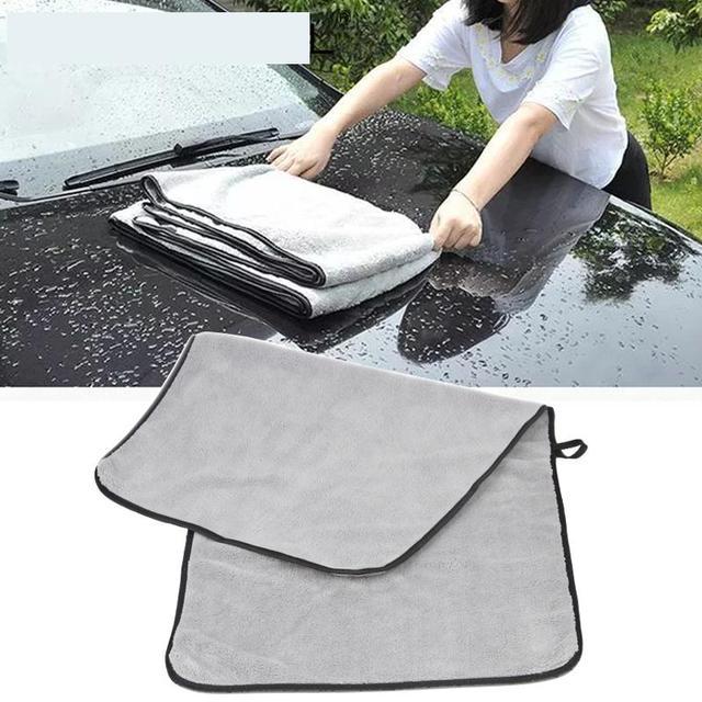 Полотенце из микрофибры, тряпочка для мытья автомобиля, уход за дверью и окном, плотная, сильное впитывание воды, аксессуары для автомобиля, дома и автомобиля
