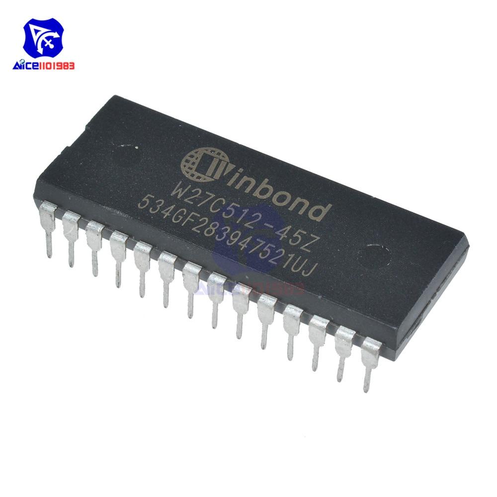 Diymore 10 шт./лот микросхемы IC W27C512 W27C512-45Z 28DIP IC EEPROM 512 кбит оригинальные Интегральные схемы