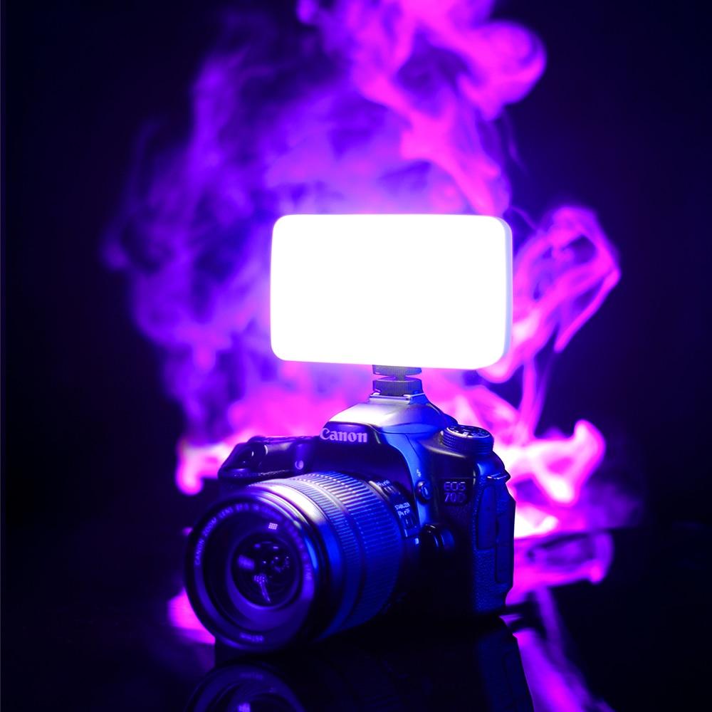 Vijim VL120 3200K-6500K LED Video Light for DSLR Camera Light With Soft Box RGB Color Filter Cold Shoe Pocket Fill Light