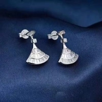 earrings woman 18k gold real diamond earrings fashion style exquisite jewelry engagement gift