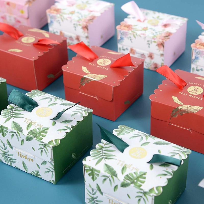 5/10 шт. новая Бронзирующая коробка для конфет, свадебные маленькие бумажные коробки, свадебные конфеты, подарочные упаковочные принадлежнос...