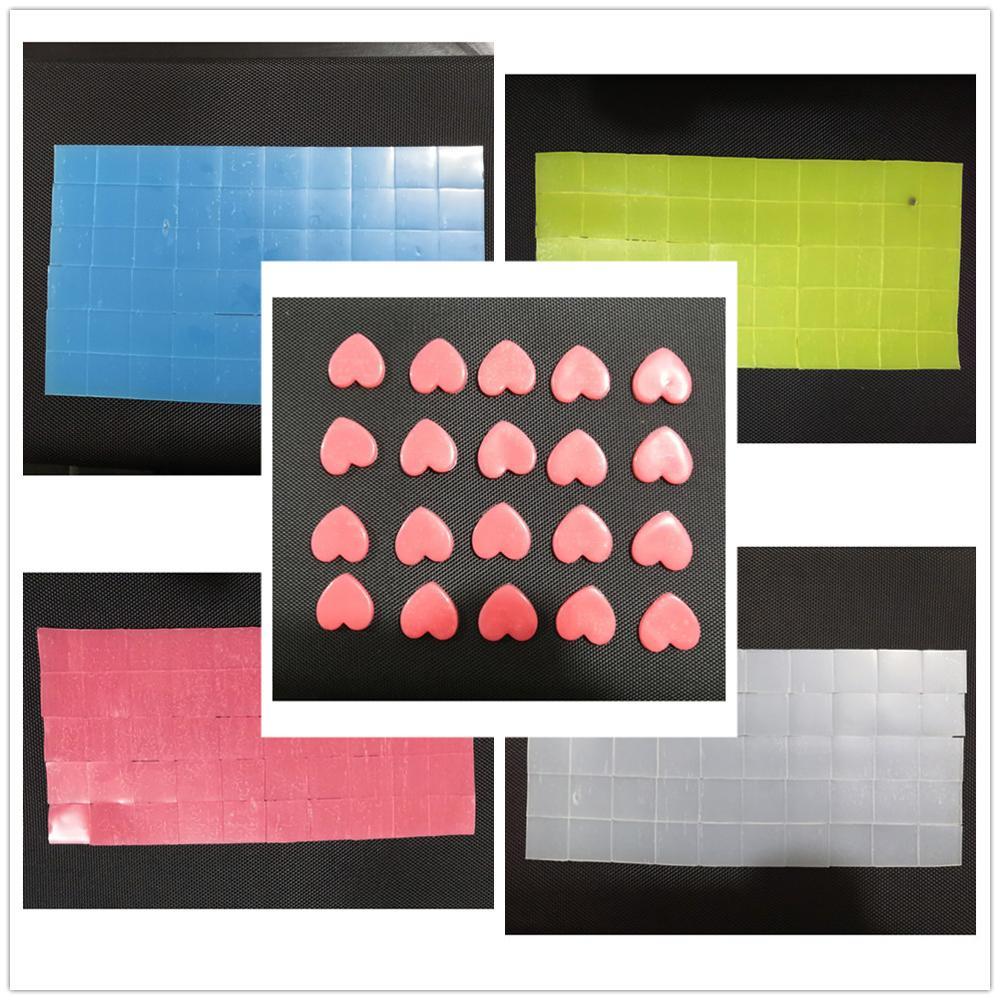 Nueva pintura de punto de cruz con diamantes, accesorios de mosaico para bordado, herramientas DIY, 2x2cm, rosa, azul, amarillo, blanco, cera, pegamento de arcilla