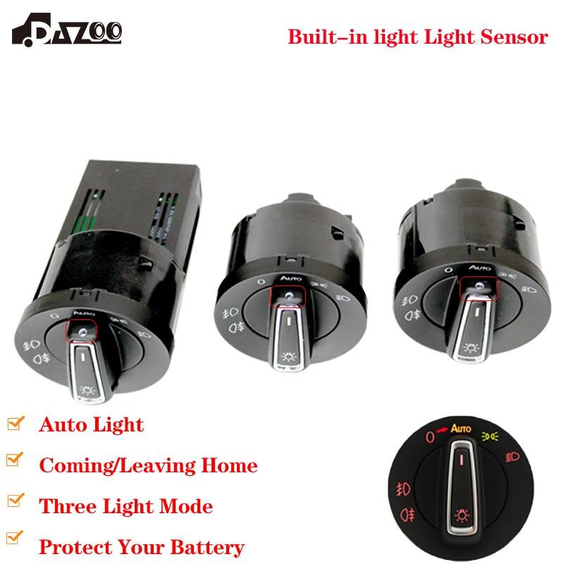 Interruptor de faro delantero rojo actualizado con Módulo Sensor de luz para Golf J etta MK4 Passat B5 Polo Bora Bettle Golf 6 7 Tiguan