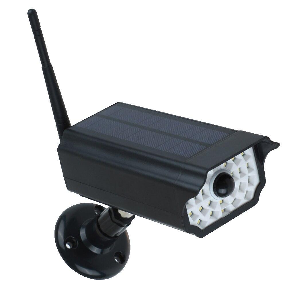 Energie Spar Bewegung Sensor Wasserdichte Zaun Garten Überwachung Sicherheit Solar Wand Lampe Terrasse Gefälschte Kamera Led